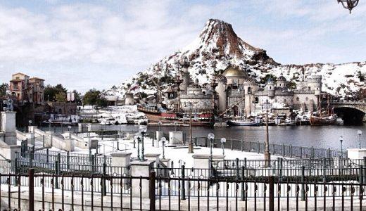 残雪が残るプロメテウス火山をいろいろな場所から観てみました