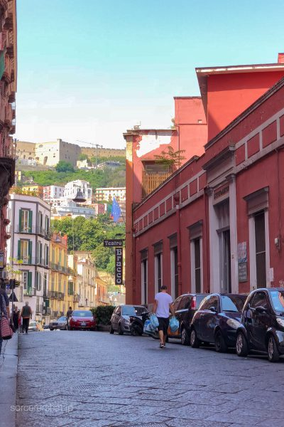 イタリア・ナポリの街並み