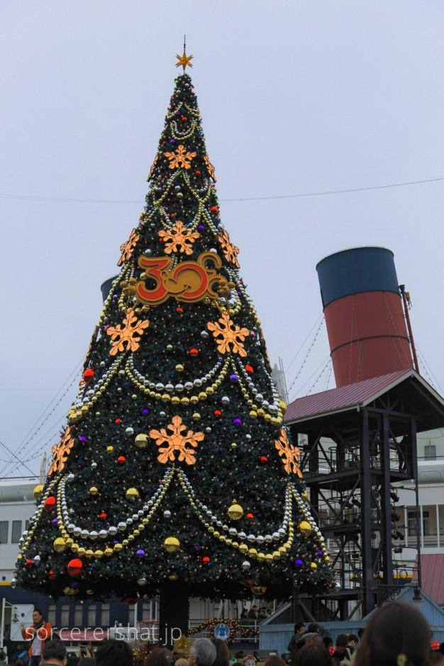 ウォーターフロントパークのクリスマスツリー