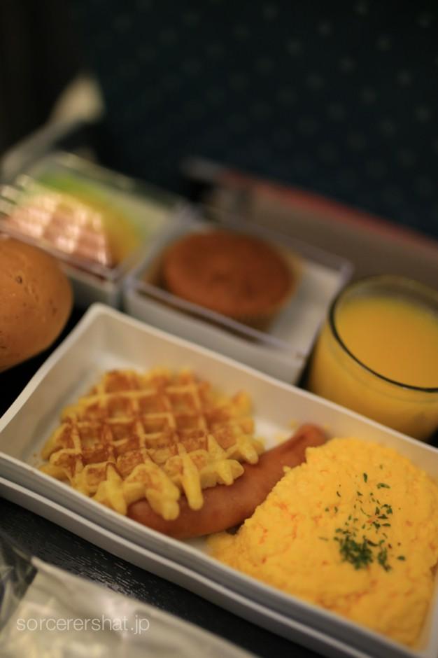 機内食 スクランブルエッグ
