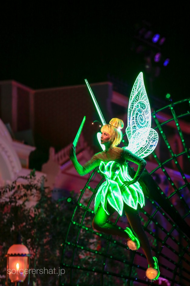 Tinker bell paints the night sky
